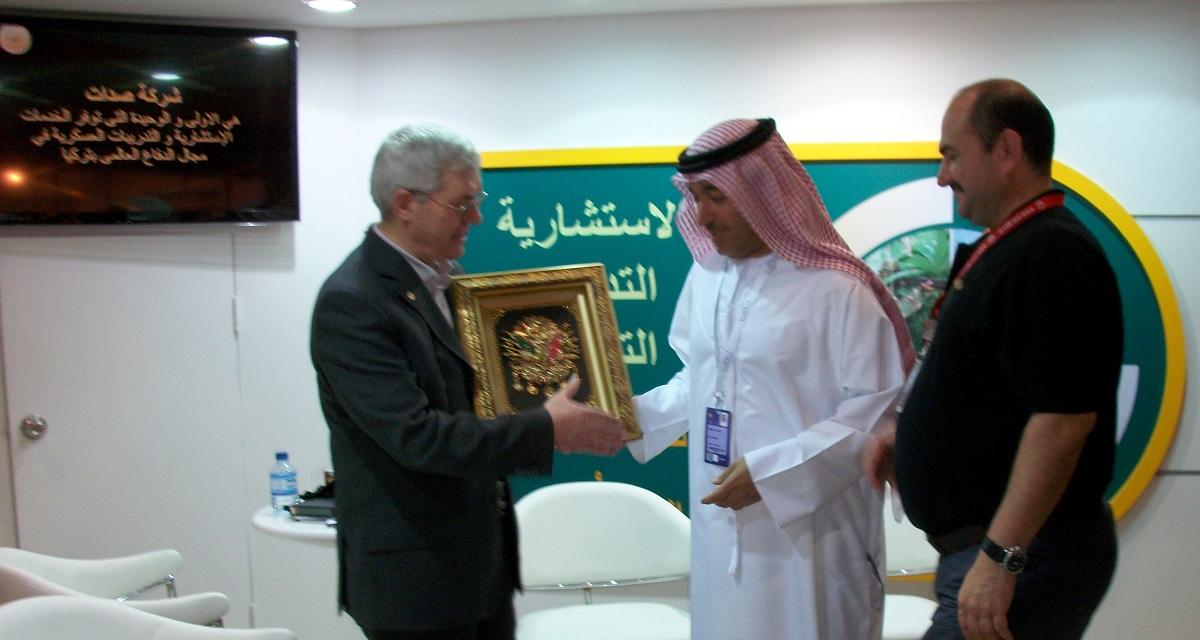 visitor of SADAT in IDEX 2013